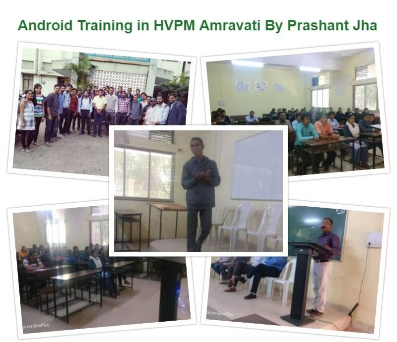 Android Training Workshop in HVPM College Nagpur for MCA Students